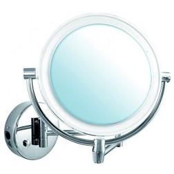 Kosmetinis veidrodis Sitita, montuojamas , chromas , su apšvietimu , 5x didinimas