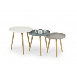 Kavos staliukas MALAGA, 50/50/50 cm, pilka