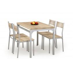 Valgomojo komplektas MALCOLM + 4 kėdės