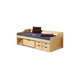 Vaikiška lova MAXIMA, 209/96/72 cm, medis