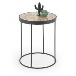 Kavos staliukas NATURO, 47/61 cm, juoda