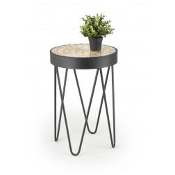 Kavos staliukas NATURO, 41/59 cm, juoda