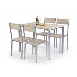 Valgomojo komplektas RALPH + 4 kėdės