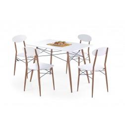 Valgomojo komplektas RECORD + 4 kėdės