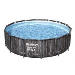 4.27m x 1.07m Bestway apvalus karkasinis lauko baseinas STEEL PRO™ MAX, Pilkas