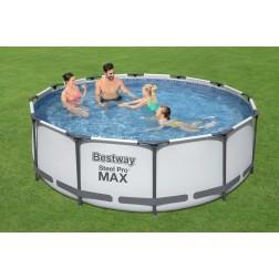 3.66m x 1.22m Bestway apvalus karkasinis lauko baseinas STEEL PRO™ MAX