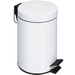 Metalinė šiukšliadėžė su dangčiu, balta, 3l, 22 x 18 x 24 cm