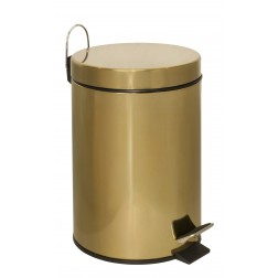 Metalinė šiukšliadėžė su dangčiu, aukso spal., 3l, 22 x 18 x 24 cm