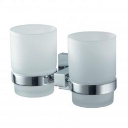 Haceka Mezzo dviguba vonios stiklinė, pritvirtinama, chromas