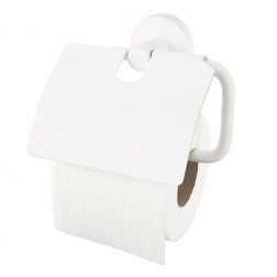 Kosmos White WC popieriaus laikiklis su dangteliu, baltas