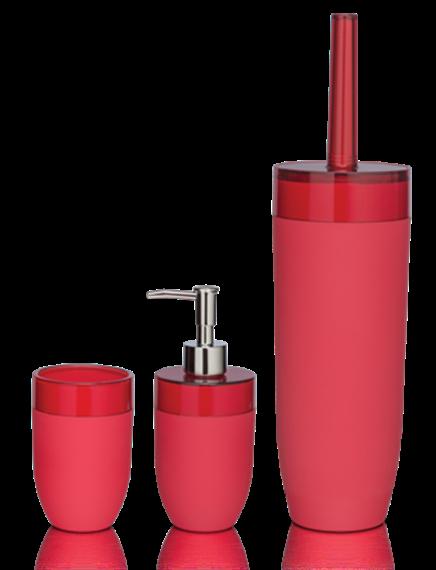 Sealskin Boom raudoni vonios kambario aksesuarai